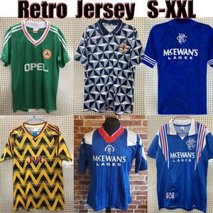 En tayland Retro futbol formaları İrlanda 90 92 94 Kuzey İrlanda 90 93 Glasgow Rangers 92 94 96 97 vintage formaları futbol futbol gömlek