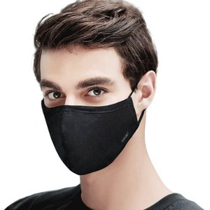 Korean Cotton Mouth Black Face Mask Pm2.5 Anti-Dust Glasses Mask Respirator Man&Women with Activated Carbon Filter Black Fabric Face Mask