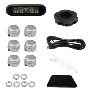 New T650 Solar Wireless Tire Pressure Monitoring System 6 Wheels Digital Tyre Pressure Monitoring for Bus RV Truck External