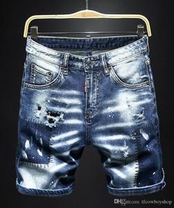 Erkek Jeans Yaz Stili Marka Erkek Kot Baskılı Erkek Casual Katı Kısa Pantolon Moda Marka Sport Kısa Jeans