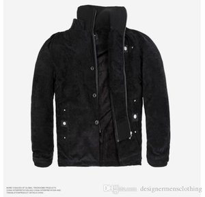 Mens Winter Cargo Jackets Solid Panelled Zipper Fly Windrunner Stand Collar Long Sleeved Cotton Jacket Mens Clothing