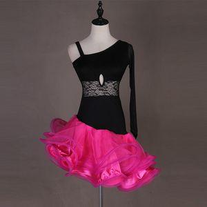 2019 تصميم جديد الدانتيل الحليب الحرير خياطة الفتيات الكبار مثير دنة الرقص اللاتينية زي النساء الرقص اللاتينية المنافسة اللباس