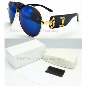 Nuevo diseñador VE 2150 hombres mujeres gafas de sol moda marco grande belleza cabeza marca gafas con caja