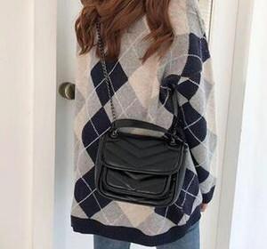 2019 nuova pelle di cera randagio olio pacchetto postino borsa borsa da sera retrò catena per la borsa prelevate della donna