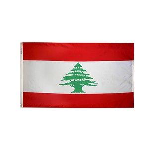 3x5ft 150x90cm Libano bandiera e Banner nazionali digitale stampato in poliestere Pubblicità esterna coperta, Più popolari Bandiera