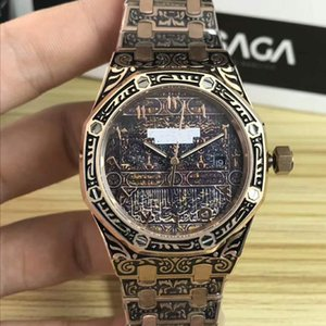 3A top-selling luxury designer royal oak 41mm dial 316 fine steel engraved design automatic mechanical men's fashion sports Waterfall