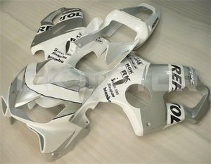 Nuevos carenados de la motocicleta de inyección ABS Fit Kits para HONDA CBR600RR F4i 2001 2002 2003 CBR600 F4i libre de la aduana Blanco Gris
