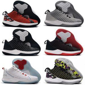 Высокое качество CP3.XII Крис Пол 12 Начиная Черный Красный Белый Баскетбол Обувь Для Мужчин Любителей Хьюстона 12s Дешевые Спортивные Кроссовки Размер 7-12