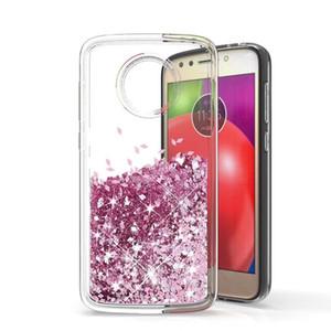 Per Motorola E6 G7 PLAY G7 POWER Z3 gioca G6 PLAY G5S G5 G5 S PLUS Custodia per telefono con glitter Quicksand acqua liquida