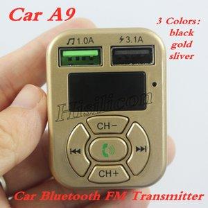 Carro mais barato A9 Adaptador Bluetooth Transmissor FM Kit Mãos Livres Bluetooth Car Radio FM Adaptador com Carregador de Carro de Saída USB PK C5 B3