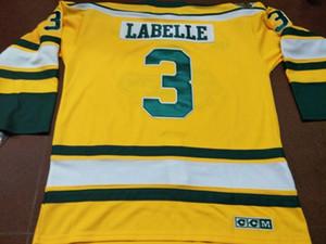 Erkekler 3. Humboldt Broncos LABELLE HOKEY GERÇEK JERSEY veya Jersey Retro özel herhangi bir ad veya numara