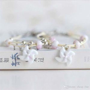 Designer windmill Sailbo Plane Ceramic Charm Bracelet Creative Handwork style Couple Bracelet Fashion Ornament Jewelry Charm h bracelet 0