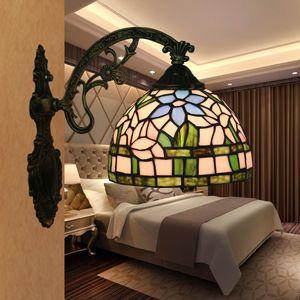 Tiffany Vitray Avrupa Duvar Lambası Ayna Farlar Retro Yatak Odası Başucu Işık Banyo Işıklar Salon Lights Bar Hotel Villa