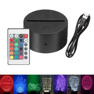 Lâmpada RGB Base de Suporte da lâmpada 3D LED Romântico Luminous Modern Noite presente Luz aparelho de iluminação interior Base de Luz