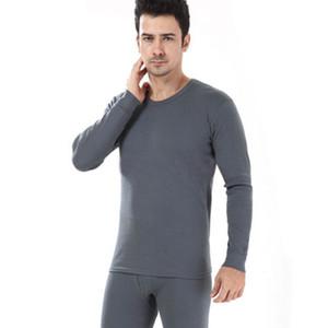 2018 New inverno dos homens do estilo Thicken 2pc Long Johns 100% algodão Warmer Underwear térmica Set Long Johns Superior Inferior tamanho M-2XL