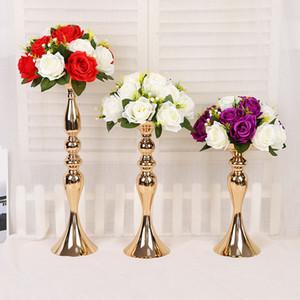 Wedding Stage Propert Золотая Русалка Рог Подсвечник Украшения Дома Украшения