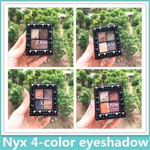 2019 Yeni NYX 4-color perçin göz farı tepsisi Toprak renkli mat dumanlı makyaj göz farı narin ve çiçeklenme değil
