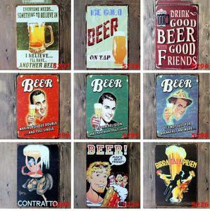 Eco-friendly Beer Coffee Tavern Vintage metal Sinal Poster Tin Pub Bar Café Lojas Decoração Retro Registe Tin Poster Beer Worldwide Tavern