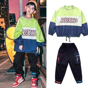 Los trajes de los niños del Hip Hop Trajes de baile para niños Niños suéter flojo HIPHOP Jazz de baile de salón moderno SL2098 desgaste del baile