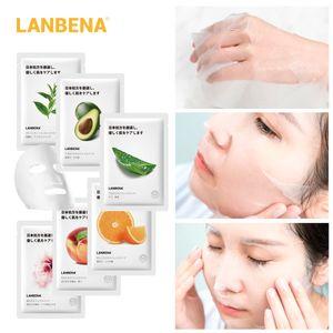 LANBENA Фруктовая маска экстракт Увлажняющий завод маска для лица Япония Advanced Formula Whitening Запирание Water Face Mask Уход за кожей