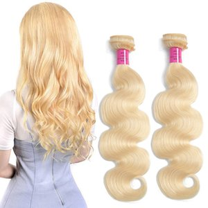 Malaysian Body Wave Virgin Hair Extensions Blonde COlro 613# Straight 613# Two Or Four Bundles 10-30inch 100% Human Hair Wefts Silky Hair