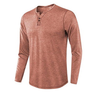 Casual Tshirts Long Sleeve Solid Color Crew Neck Fashion Summer Style Casual Apparel Mens New Designer