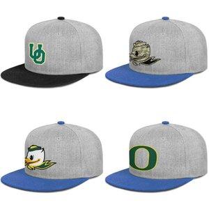 Oregon ördekler futbol logosu erkek ve bayan snap back baseballcap özel beyzbol hip Hopflat brimhats basketbol kamuflaj örgü eski