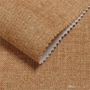 Flachs Nahtlose Wandtuch Solid Color Wallpaper Hotels Technik Dekorieren Zubehör Wasserdicht Heiße Verkäufe Fett Proof Einfache Kreative 18lnC1