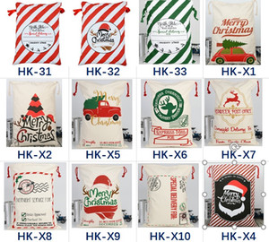 37 styles Christmas Gift Bags Large Organic Heavy Cotton Bag Santa Sack Drawstring Bag Reindeers Rudolph Express Bags for kids