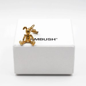 AMBUSH 925 Silver Pin Rabbit Earrings Fashion Goddess Classic creativo animal aretes Joyería Regalo de cumpleaños para mujeres