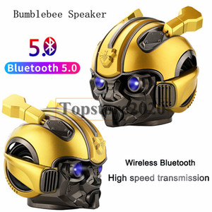 10pcs 2019 Bumblebee Bluetooth Lautsprecher bewegliche drahtlose Lautsprecher LED Blinklicht BT Mini Transformers Bluetooth Lautsprecher