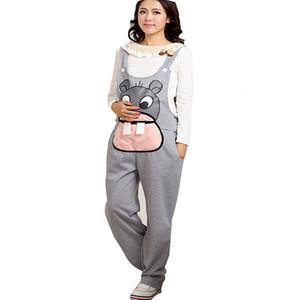 Gravidas Jumpsuit Maternity Pants Long Pregnancy Clothes For Pregnant Women Overalls Roupa Gestante Trousers Autumn WinterMX190910