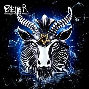 Ювелирные изделия Vintage Байер из нержавеющей стали Большой Goat Head Ring Уникальный Байкер Punk животных для человека Бесплатная доставка BR8-182
