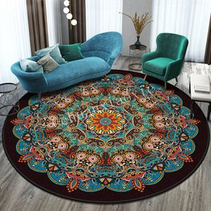 Chuanxiaoxie National Wind Restaure Ancient Ways Mandala Tapis circulaire Tapis Europe du Nord Balcon Thé Table Hanging panier Sitting Room
