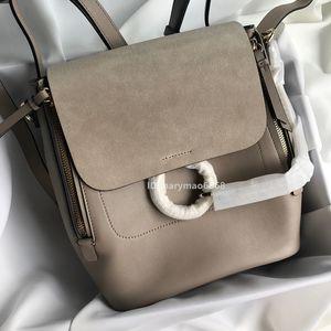 Neueste LUXUS Taschen Echtes Leder Ring Frauen Designer Rucksack Schulter Berühmte Mini Rucksack Frauen Handtaschen Brieftaschen Schultasche