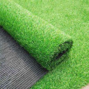 2x2m السجاد في الهواء الطلق واقعية محاكاة السجاد الكلمة حصيرة الاصطناعي الأخضر الحديقة الحديقة وهمية العشب موس المنزل والحديقة