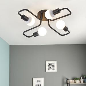 LED 샹들리에 조명기구 광택 빈티지 LED 램프 산업 주방 거실 블랙 현대 밤 램프