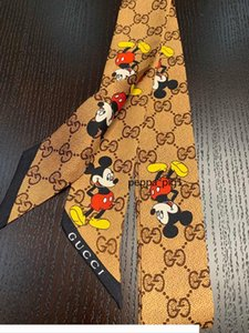 Designer 100% brand new designer bag hair silk scarf best quality luxury rat letter classic letter noble women silk headban