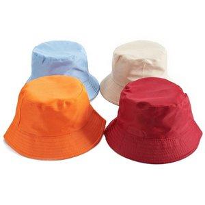 Moda pescatore Bucket Cap per il tempo libero tinta unita da uomo Sport Flat Top Hat Summer Woman Outdoor Travel Sun Hat