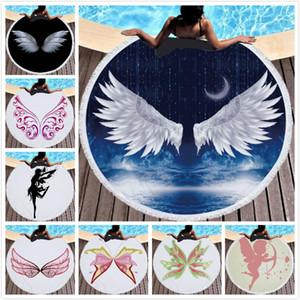 Angel Wings Blanket Beach Towel Microfiber towels Blankets Superfine Fiber Beach Accessories Sport Towel 10 Styles Free Shipping