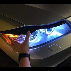 اكسسوارات السيارات الجافة من ألياف الكربون الحاجب المصابيح الأمامية الغلاف الأمامية الجفن الديكور لBMW F30 320 328