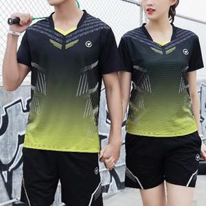Em branco Suit Badminton Jersey Homens Mulheres Tennis Training Sportswear Peteca shirt de funcionamento Sportswear Badminton shirt