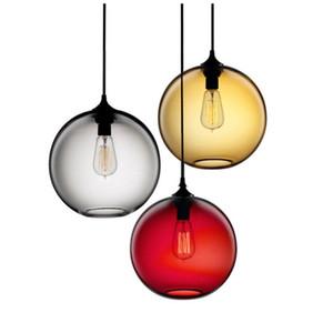 Loft in vetro di Lucky palla colorata luci a sospensione paralume Dia20cm / 25 centimetri / 30 centimetri Hanging Lamp E27 Anna Love Festival di Natale