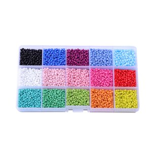 7500 Pcs Set mix color Glass seed beads small 3mm Seed Loose Beads Jewelry Findings Components for jewelry DIY parts accessories
