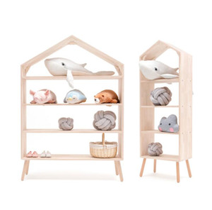 Ins Nordic children's clothing store shelf Storage Rack Bookshelf display racks Children's room toy storage rack