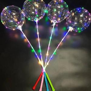 Düğün Doğum Günü Partisi Dekorasyon Oyuncaklar için Çubuk Kol Kontrol Dalga Topu 3M Dize Balonlar Yanıp sönen Işık Up ile Bobo topu LED Hattı