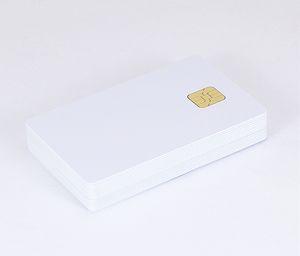 Toptan (100 adet / lot) ISO7816 İletişim SLE 4442 Çip PVC Akıllı IC Kart