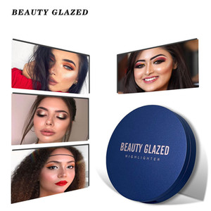 BEAUTY GLAZED Single Highlighter Powder Palette 8 Colors High Gloss Shimmer Powder iluminador Repair Face Pallet Makeup Cosmetic