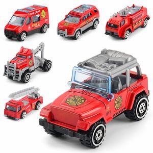 Мини Сплав Инерционный автомобиль игрушки Огонь автопоезд инжиниринговая сплав модель автомобиля игрушка DHL Бесплатная доставка