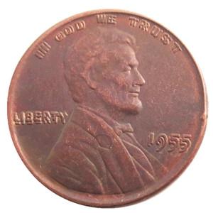 US One Cent 1955 morre de artesanato Duplo Die Copper Penny Copiar moedas de metal fabricação de fábrica Preço